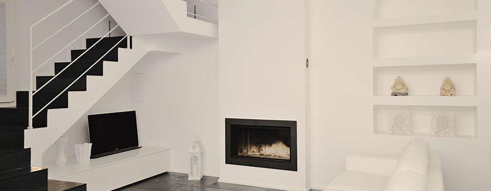 moderne Woonkamer door Studio di Architettura Ortu Pillola e Associati