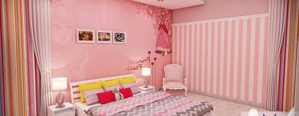 Kids Room for Girl: classic Nursery/kid's room by Eternity Designers