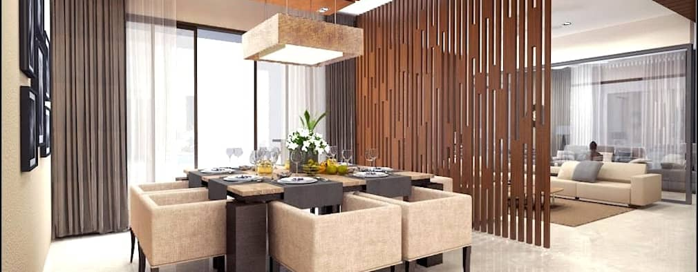 house interiors: modern Dining room by Vinyaasa Architecture & Design