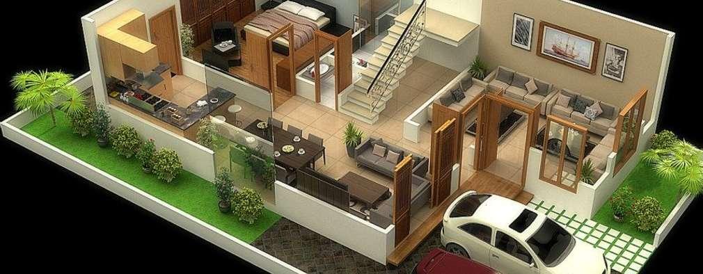 Projekty,  Ściany zaprojektowane przez Vinyaasa Architecture & Design