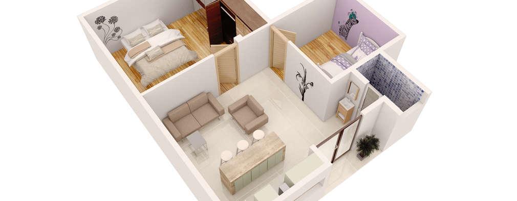 Projekty, minimalistyczne Domy zaprojektowane przez AErre