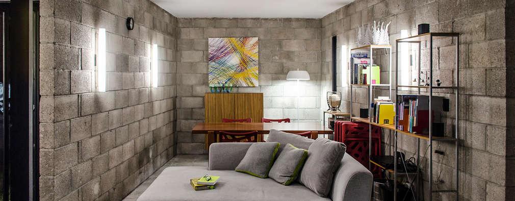 Extremamente Feita de blocos de concreto, casa ficou chique e elegante GU77
