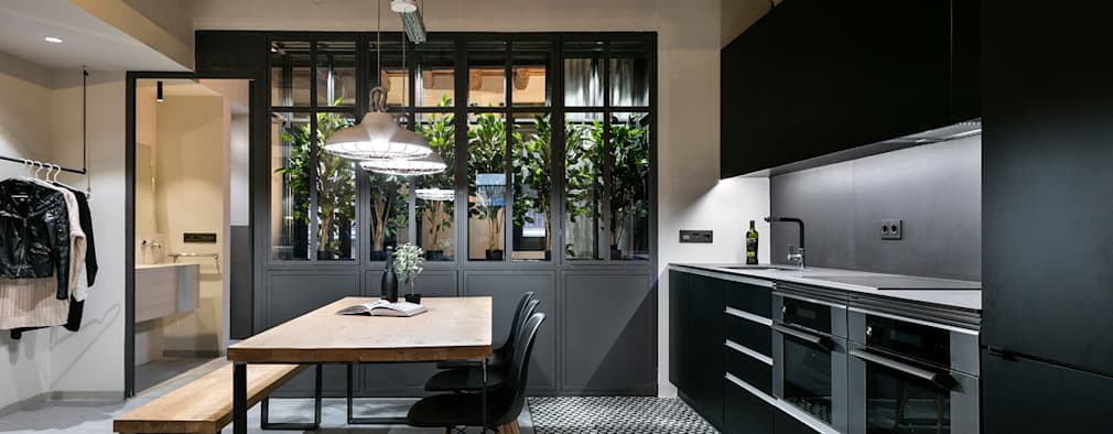 industrial Kitchen by Dröm Living