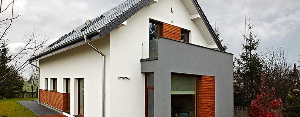 Realizacja projektu Amelia: styl nowoczesne, w kategorii Domy zaprojektowany przez Biuro Projektów MTM Styl - domywstylu.pl