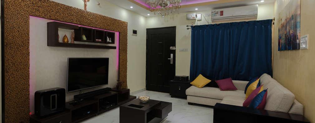 Living Room:   by Kriyartive Interior Design