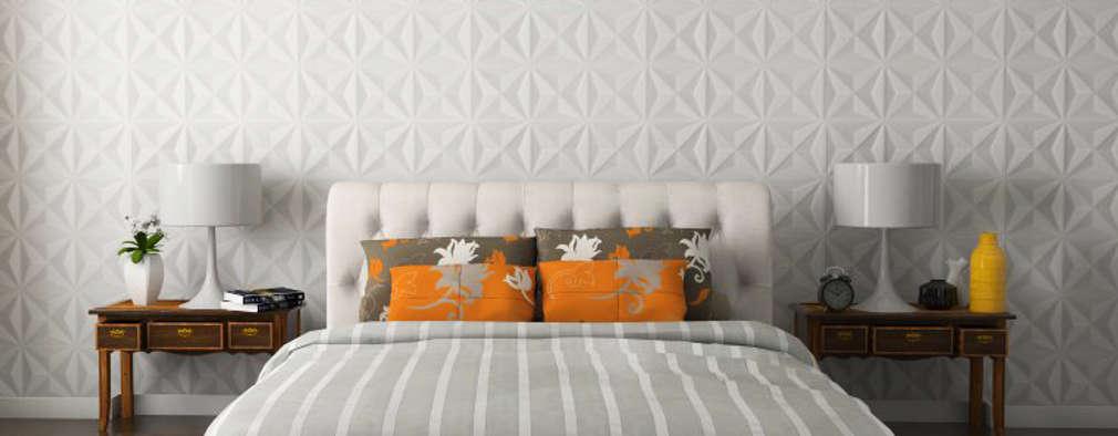minimalistische Schlafzimmer von MAGEN | Revestimentos Cimentícios