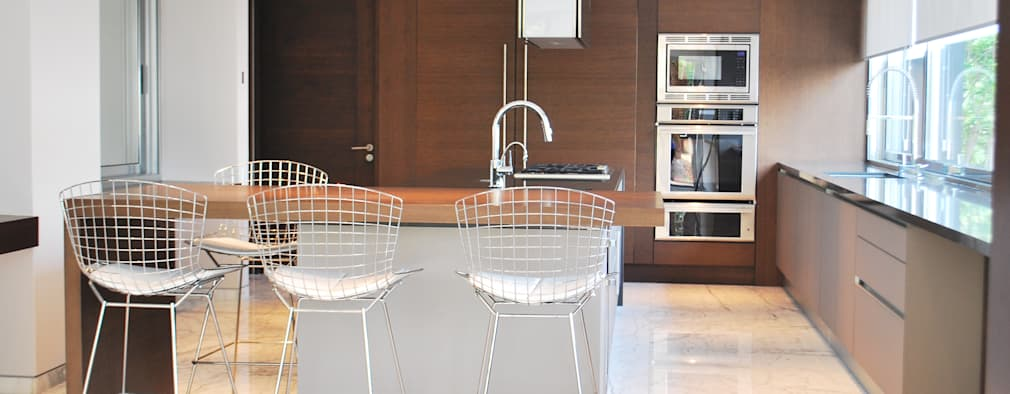 20 tipos de sillas y bancos para una cocina con mucho estilo - Bancos para cocina ...