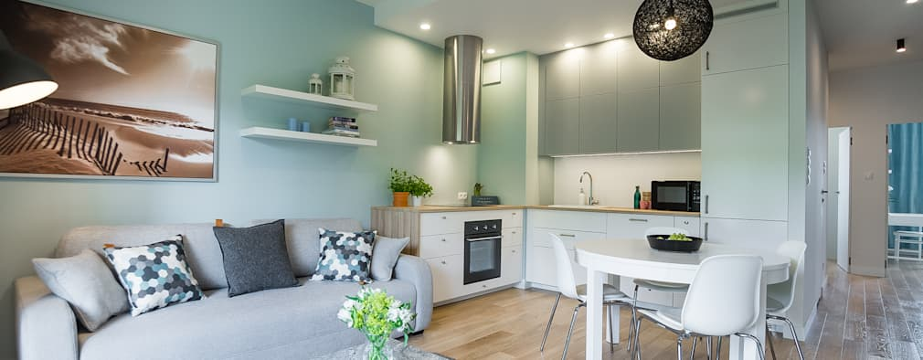 scandinavian Living room by MOA design