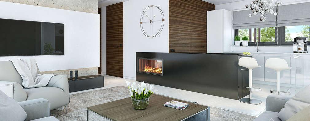 Salon de style de style Moderne par HomeKONCEPT | Projekty Domów Nowoczesnych