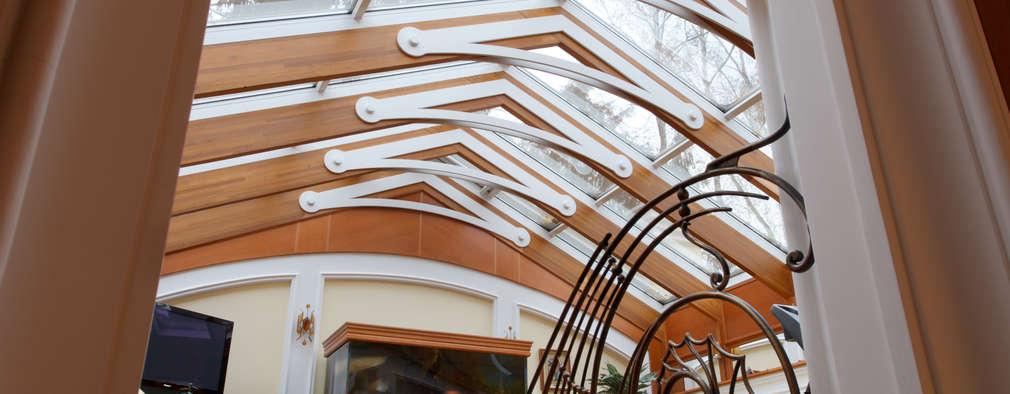 Усадьба Модерн: Медиа комнаты в . Автор – Архитектурное строительное бюро КАРЛОСН и К.
