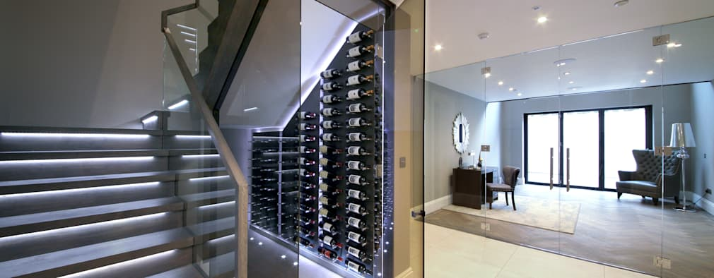 Bodegas de vino de estilo moderno por Railing London Ltd