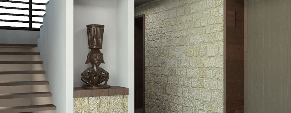 16 ideas para decorar las paredes con huecos y que se vea for Huecos de escaleras modernos