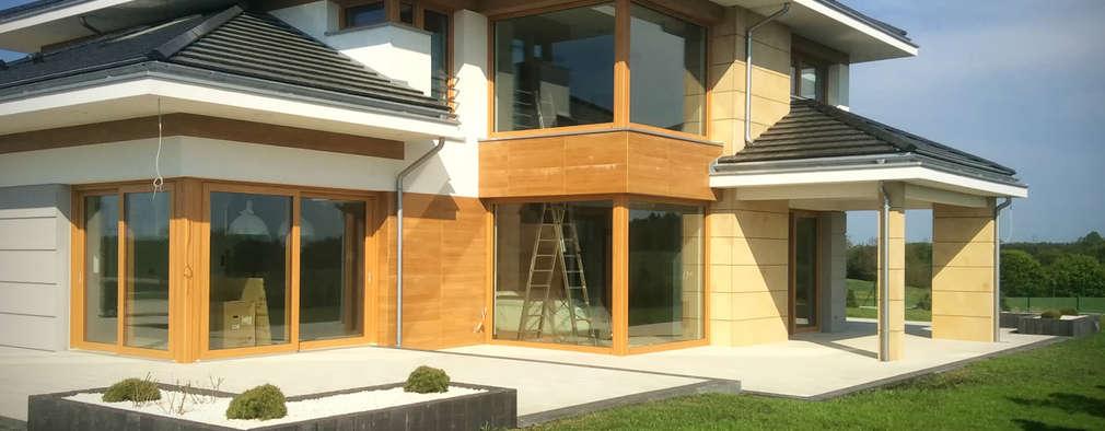 Case in stile in stile Moderno di MG Projekt Projekty Domów