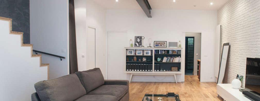 Salon vers la chambre: Salon de style de style Moderne par Olivier Olindo Architecte