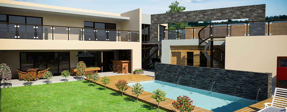 New house in Serengeti:   by Clearviz Designs