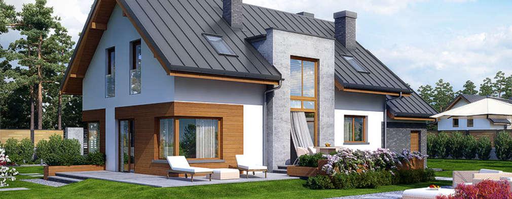 Klassisches einfamilienhaus im frischen design for Klassisches einfamilienhaus