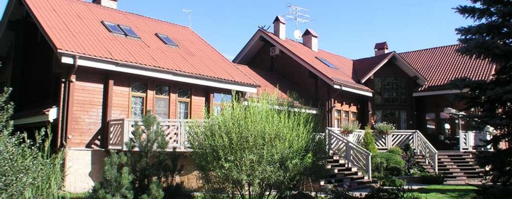 Дом в Успенском: Tерраса в . Автор – архитектурная мастерская МАРТ