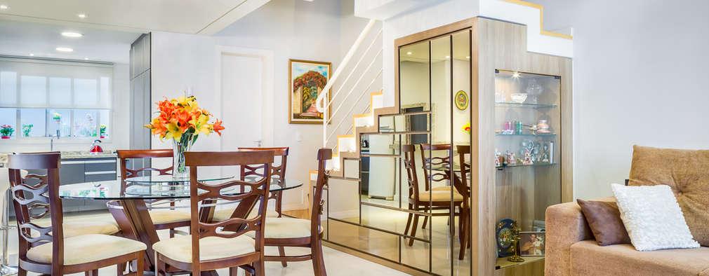 Comedores de estilo moderno por Juliana Lahóz Arquitetura