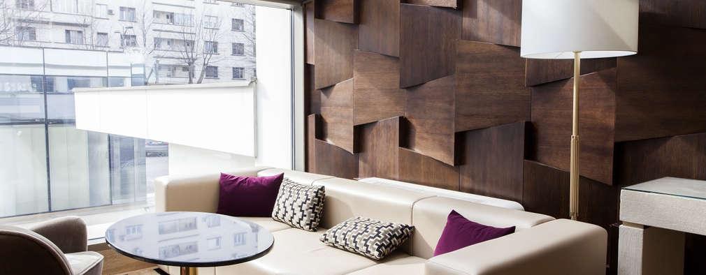 Salas / recibidores de estilo moderno por Gracious Luxury Interiors