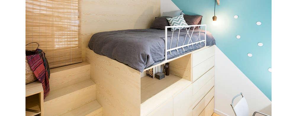 Projekty,  Sypialnia zaprojektowane przez Dröm Living