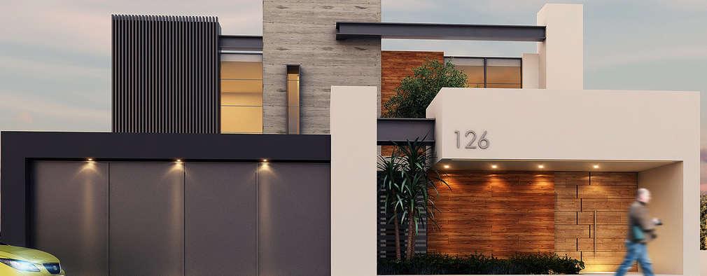 casas de estilo moderno por besana studio - Revestimientos De Fachadas