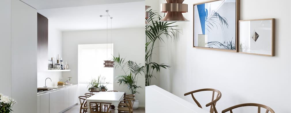 eclectic Kitchen by Fabio Azzolina Architetto