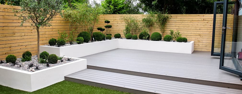 22 inspiring modern british gardens you can copy for Modern low maintenance garden ideas