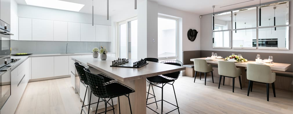 Cocinas de estilo moderno por Landmass London