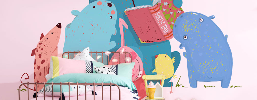 Read me Stories: minimalistic Nursery/kid's room by Pixers