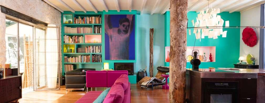 Salas de estilo moderno por Agence d'architecture intérieure Laurence Faure