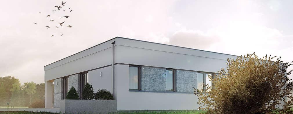 Wizualizacja projektu domu Alibi: styl nowoczesne, w kategorii Domy zaprojektowany przez Biuro Projektów MTM Styl - domywstylu.pl