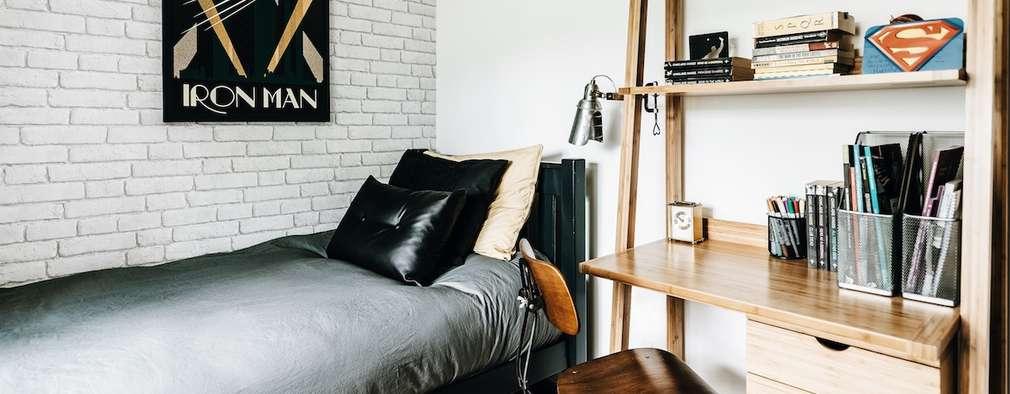 Projekty,  Sypialnia zaprojektowane przez Katie Malik Interiors
