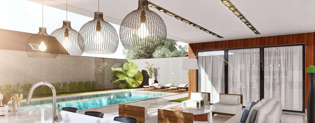 Tерраса в . Автор – Only Design de Interiores