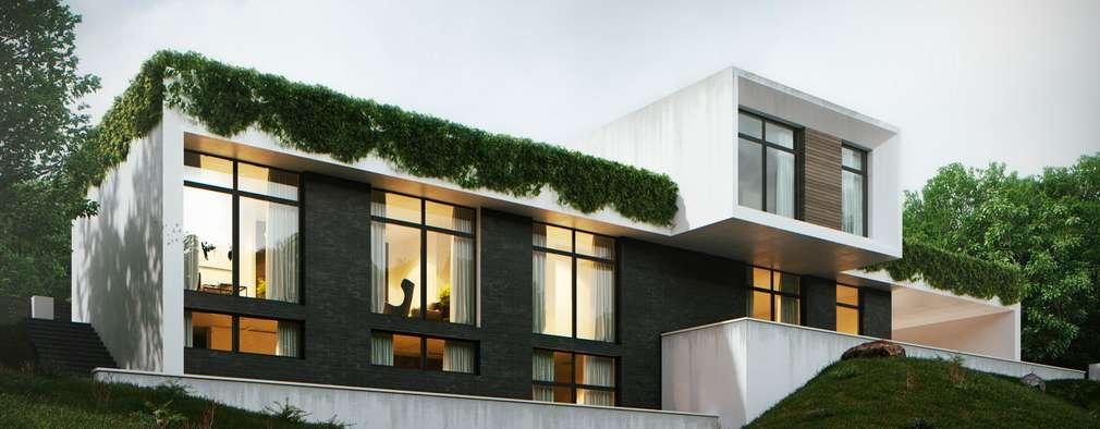 Projekty, minimalistyczne Domy zaprojektowane przez Максим Любецкий