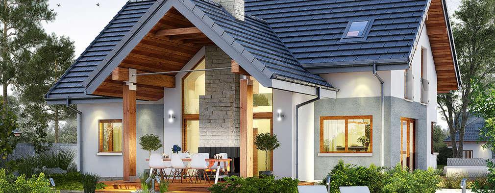 Projekt: Dom w brunerach: styl , w kategorii  zaprojektowany przez ARCHON+ PROJEKTY DOMÓW