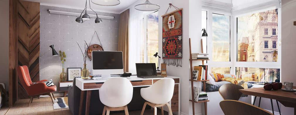 Salas de estilo escandinavo por Polygon arch&des