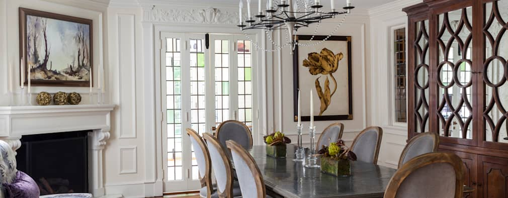 dining room with zinc table :   by Mel McDaniel Design