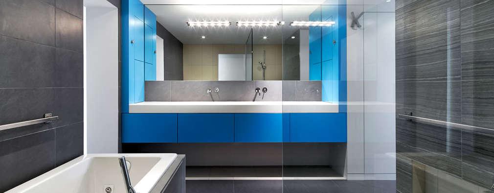 Ванные комнаты в . Автор – KUBE Architecture