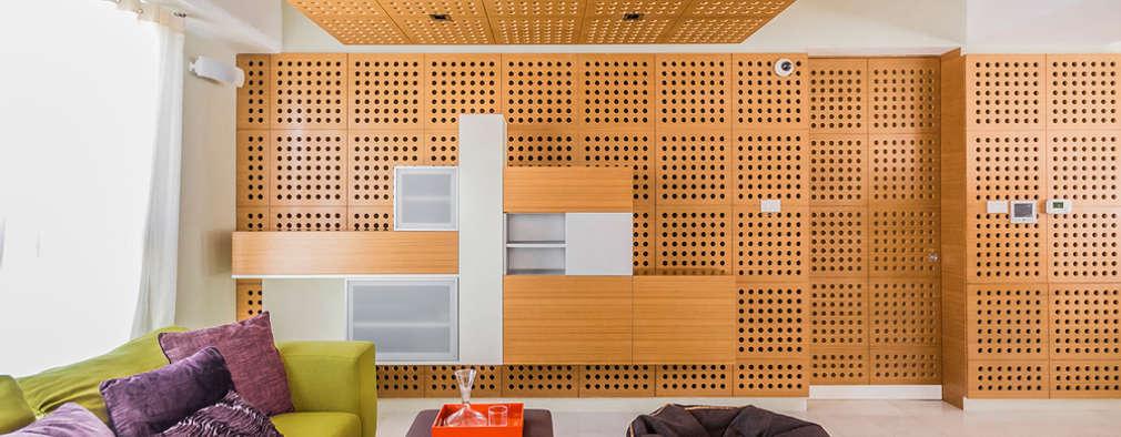 Apartamento 10A Grand Europa - NMD NOMADAS: Salas de entretenimiento de estilo moderno por NMD NOMADAS