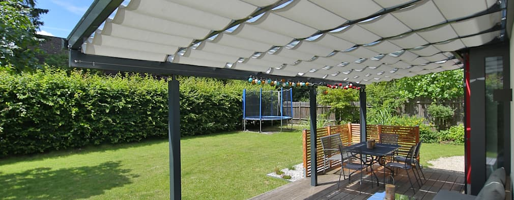 10 ideas de toldos para techar el patio f cil y barato - Toldos para patios exteriores ...