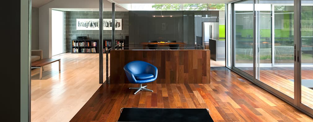 modern Living room by KUBE Architecture