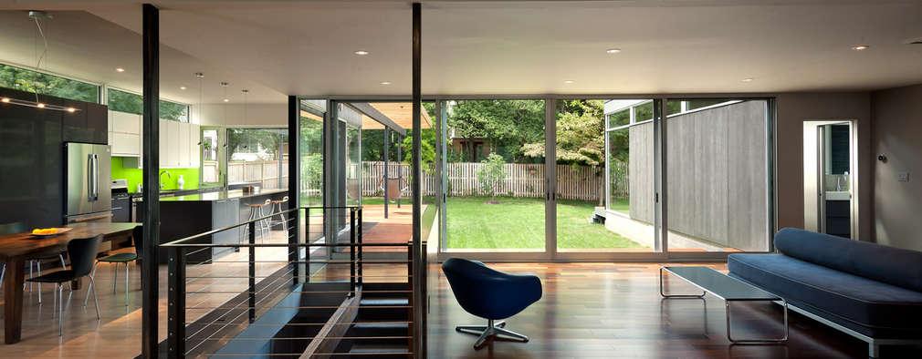 Projekty,  Salon zaprojektowane przez KUBE Architecture
