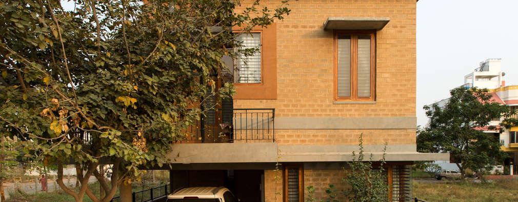 Casas de estilo asiático por A3 Ateliê Academia de Arquitectura
