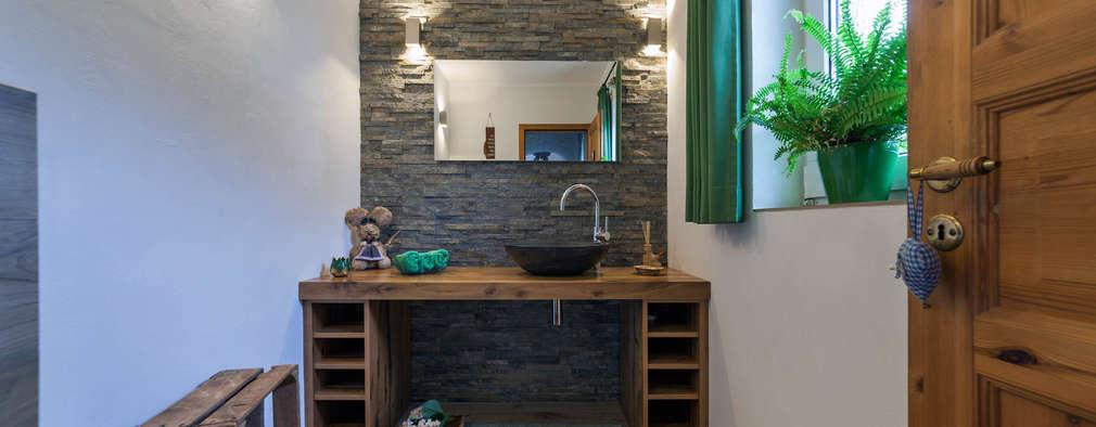 8 ideas con piedra para ba os modernos for Revestimiento de piedra para banos
