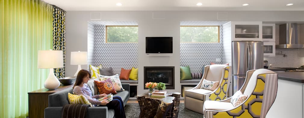 LoHi Private Residence: modern Living room by Andrea Schumacher Interiors