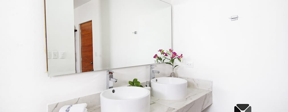 PROYECTO NN23: Baños de estilo  por PORTO Arquitectura + Diseño de Interiores