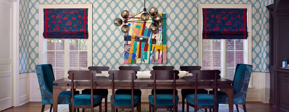 Cherry Creek Traditional with a Twist: eclectic Dining room by Andrea Schumacher Interiors