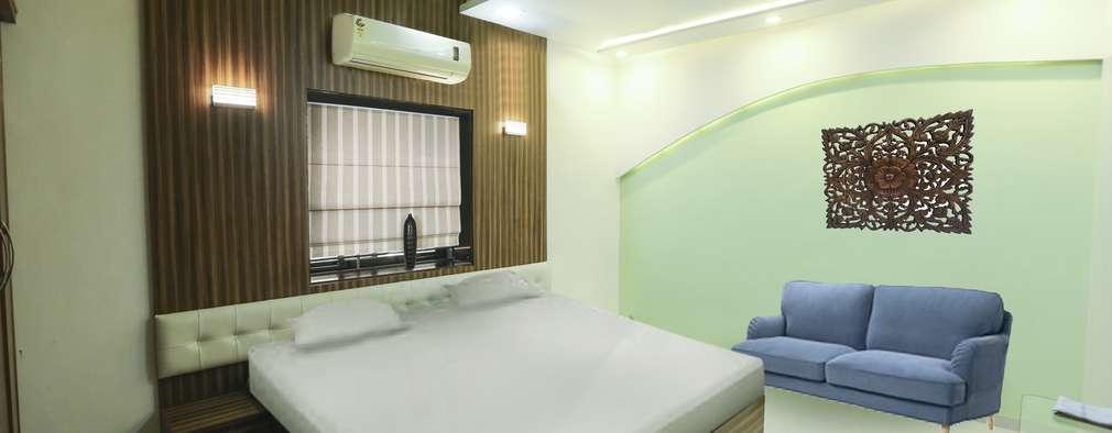 Master Beroom: modern Bedroom by ZEAL Arch Designs