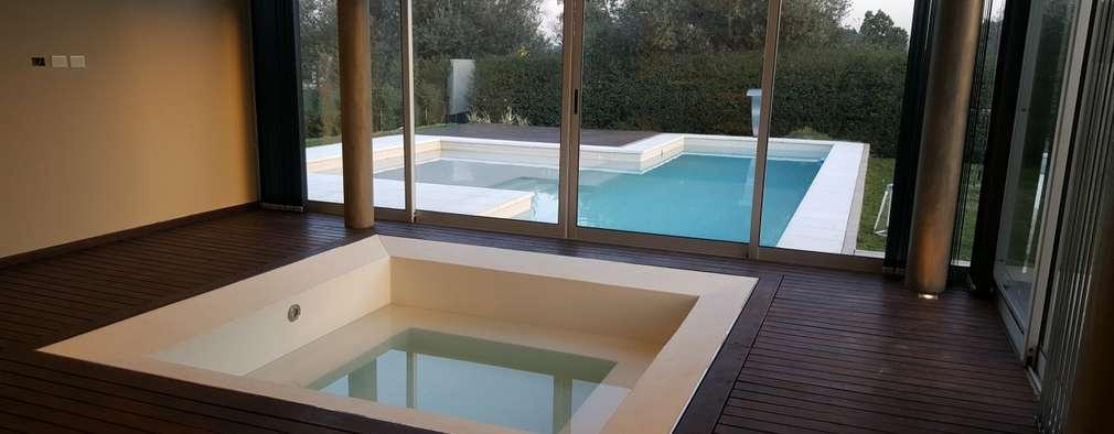 Spa de estilo moderno por Saleme Sanchez Arquitectos