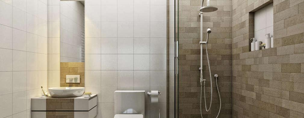 modern Bathroom by LOFT ESTUDIO arquitectura y diseño